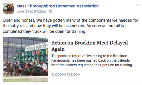 Brockton Fair racetrack