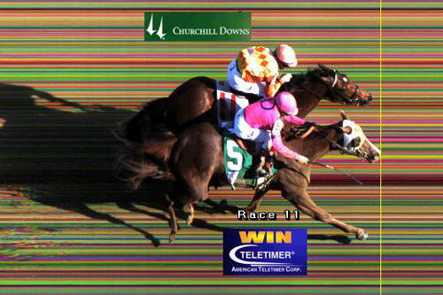 Official teletimer photo from Churchill Downs of the 2010 Kentucky Oaks finish