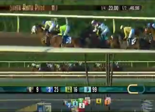 Santa Anita Handicap video stream screenshot