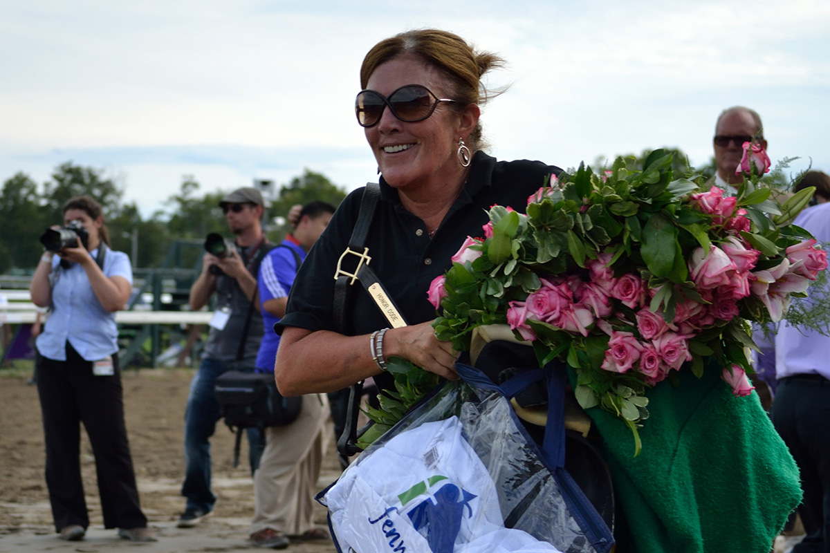 Connections of Whitney winner Honor Code leave the track with smiles