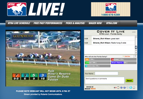 NTRA Live! Florida Derby webcast