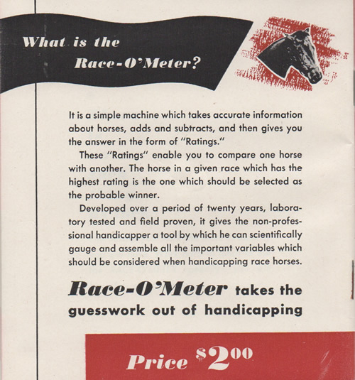 The 1948 Race-o-Meter