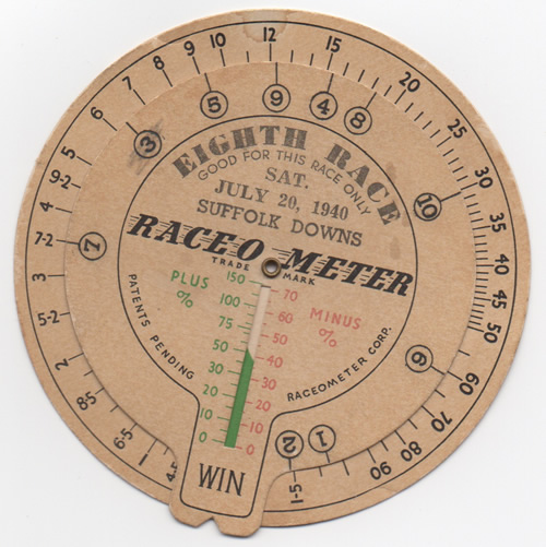 The 1940 Race-o-Meter